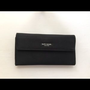 💕Kate Spade black nylon continental wallet